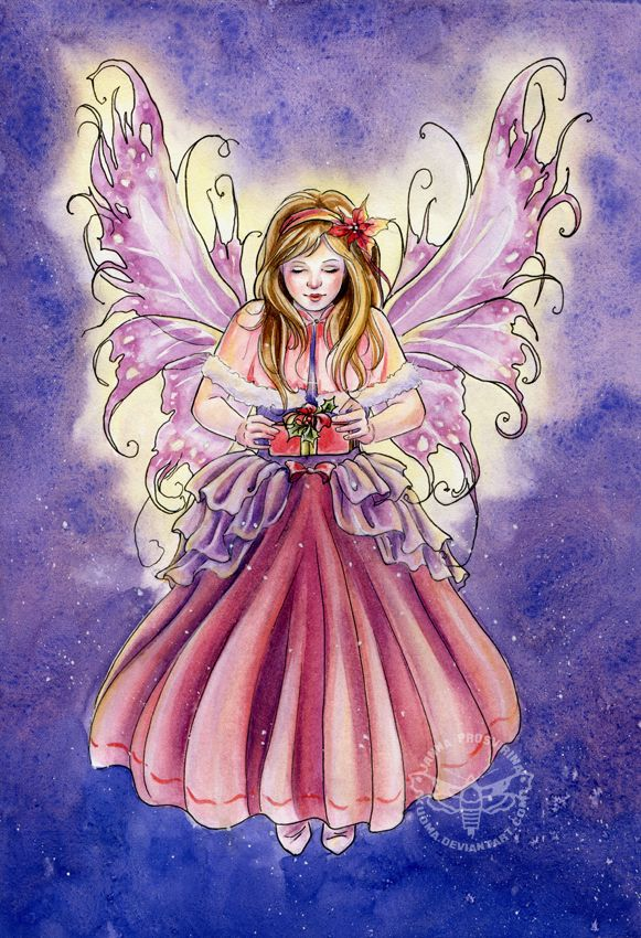 Angelina by JannaFairyArt on DeviantArt   *   Fairy Myth Mythical Mystical Legend Elf Faerie Fae Wings Fantasy Elves Faries Sprite Nymph Pixie Faeries Hadas Enchantment Forest Whimsical Whimsy Mischievous