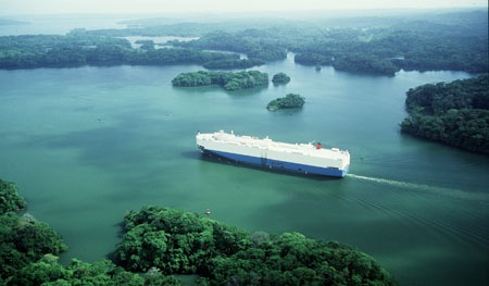 Lake Gatun Panama Canal.  You sail through this type of scenery with lots of little islands for hours.  It's an amazing area.