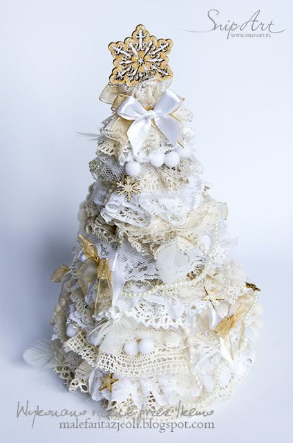 Small fantasies Oli: DT SNIP ART - course on the Christmas tree in the style of a chic shaby