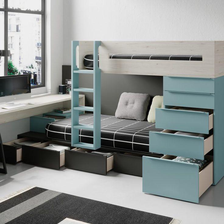 Dormitorios juveniles modernos de muebles jjp en 2019 - Dormitorios infantiles modernos ...