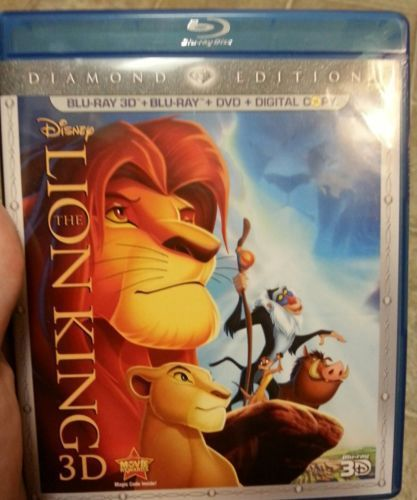 The Lion King (Blu-ray/DVD, 2011, 4-Disc Set, Diamond Edition) No Digital