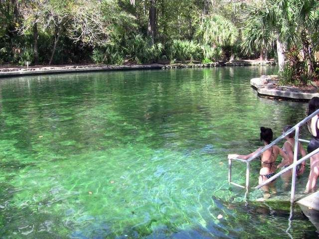 Wekiwa is an Indian word for 'bubbling water,' which describes the 72-degree (year-round) freshwater spring that attracts visitors to Wekiwa Springs State Park north of Orlando near Apopka.