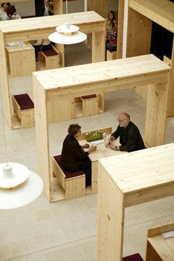 Simple object designed for interaction vs privacy inside a semi public space in Public Spaces