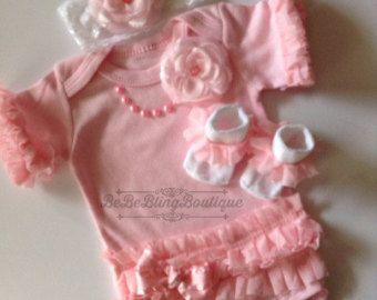 Recién nacido bebé niña Coming Home Ropa bebé por BeBeBlingBoutique