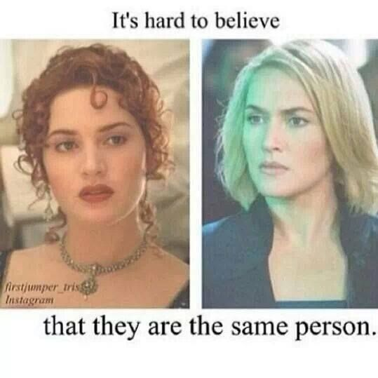 Jeanine Matthews of Divergent is actually Rose of Titanic..( Actress Kate Winslet)... That's so scary!