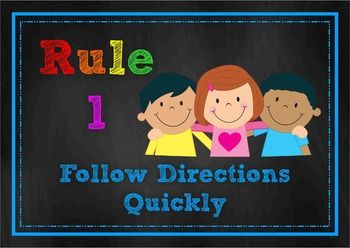 Chalk Posters - Classroom Rules