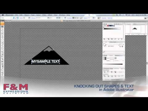 This tutorial walks through the process of knocking out shapes and text in Adobe Illustrator.
