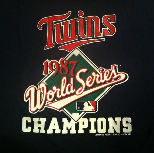 Vintage 1987 Minnesota Twins World Series t-shirt