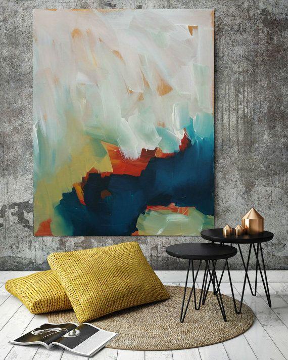 Gran pintura Original contemporáneo arte abstracto pintura