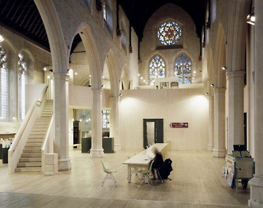 adaptive reuse precedent: London's Museum of Garden History by Dow Jones Architects via Inhabit