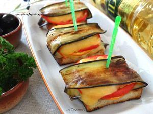 Закусочные бутерброды с баклажаном и мандариновой ноткой