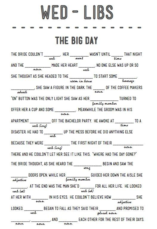 do it for her template - 14 free fun and printable wedding mad libs the o 39 jays