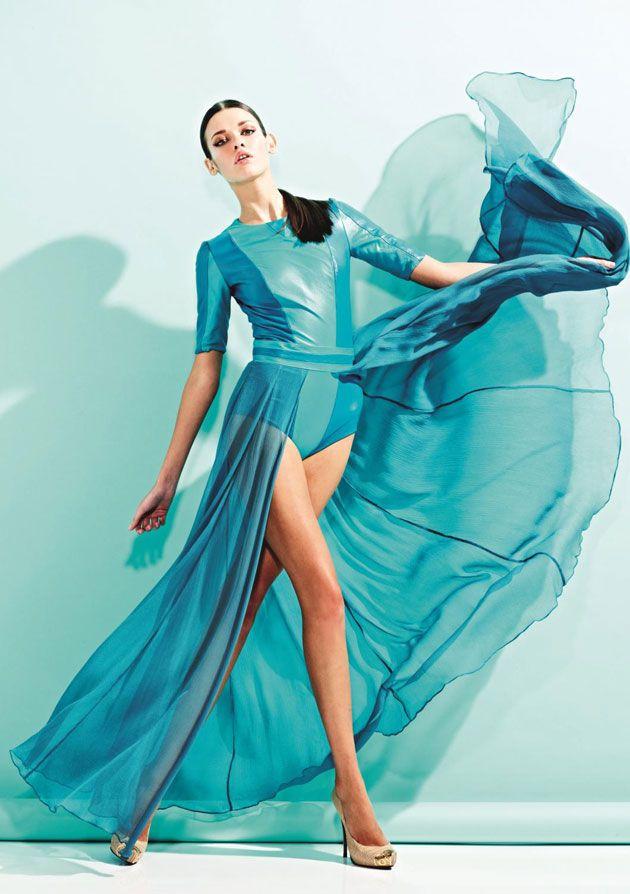 Yana K. @ FM Models by Neil Francis Dawson for Hasan Hejazi S/S 2012 lookbook: Hasan Hejazi, Turquoise, Color, Tiffany Blue, Dresses, Fashion Photography, Teal Dress, Aqua