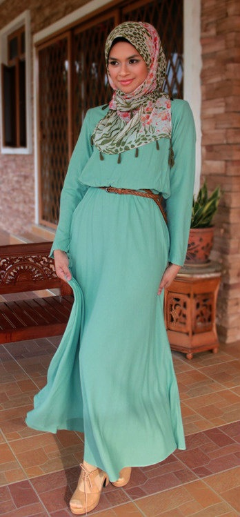 Mint Maxi Dress. #Hijab