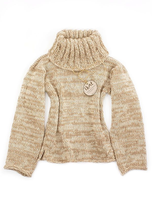 Soft Beige Turtleneck Sweater