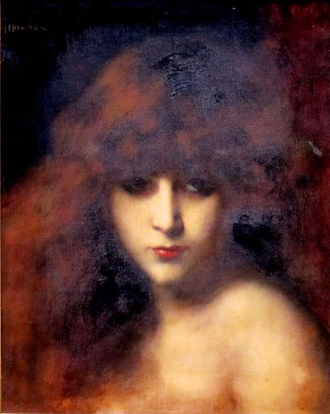 File:'Head of a Woman' by Jean Jacques Henner, Dayton Art Institute.JPG