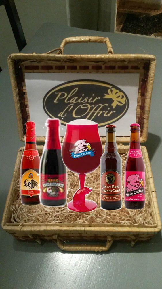 abonnement 3 mois coffret biere rubis 4 bouteilles differentes + 1 verre a biere