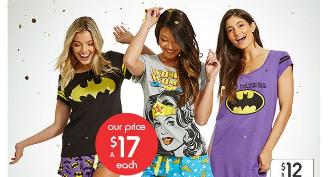 Our price $17ea Women's licensed tee and short pyjama sets. Size: 8/10-16/18. $17ea. VIEW NOW