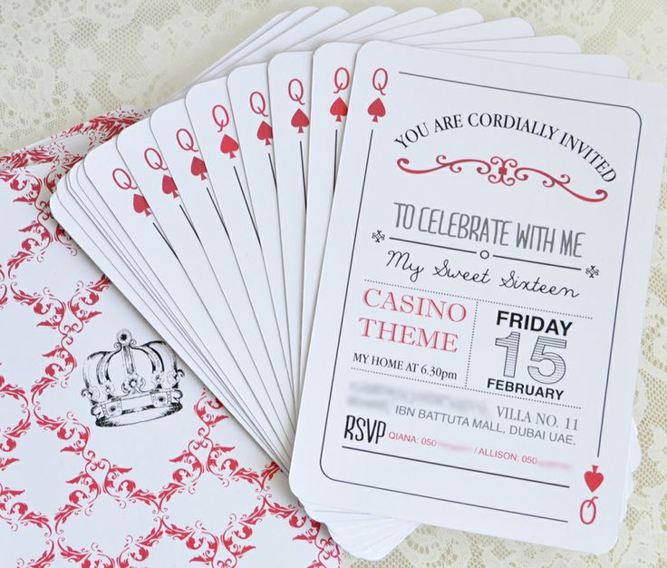 Best Invitation Ideas For Casino Nights Images On Pinterest - Birthday invitation maker in dubai