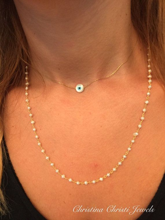 Rosary Necklace Women's Necklace Women's by ChristinaChristiJls