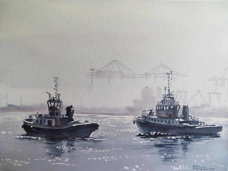 Fog Lifting - Table Bay Harbour
