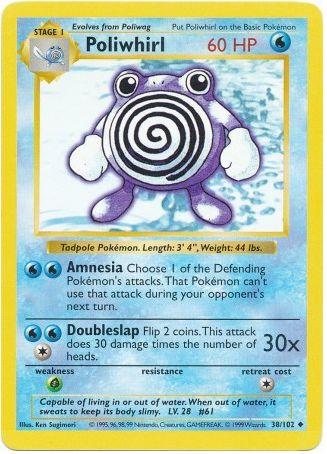Poliwhirl 38/102 Pokemon TCG: Base Set Pokemon Card #pokemon #pokemontcg #pokemoncards #thepokemart