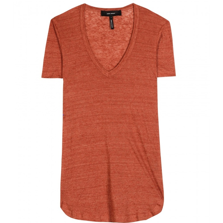 JULIETTE LINEN T-SHIRT  seen @ www.mytheresa.com