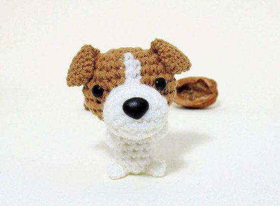 Mini jack russell cachorro amigurumi