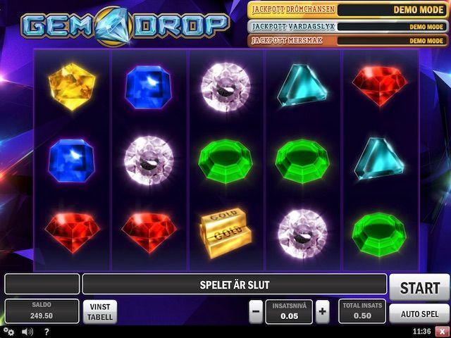 Gem Drop spelautomat. Spela för riktiga pengar