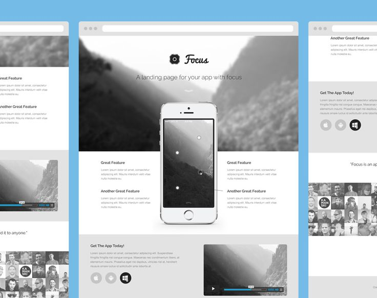 a great free app landing page psd theme freebie