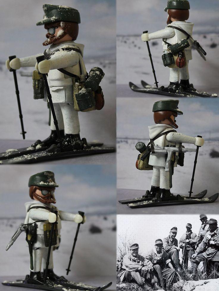 Custom Playmobil Wehrmacht WWII (Gebirgsjäger)/ Mountain German Unit Soldier WWII