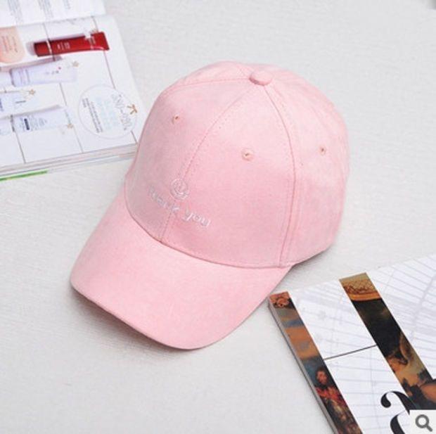 """Thank You"" Pink Cap Dad Hat for Women & Men Strapback Baseball Cap Bone Gorras Casquette Masculino Chapeu Gorra Bones Pink Masculino"