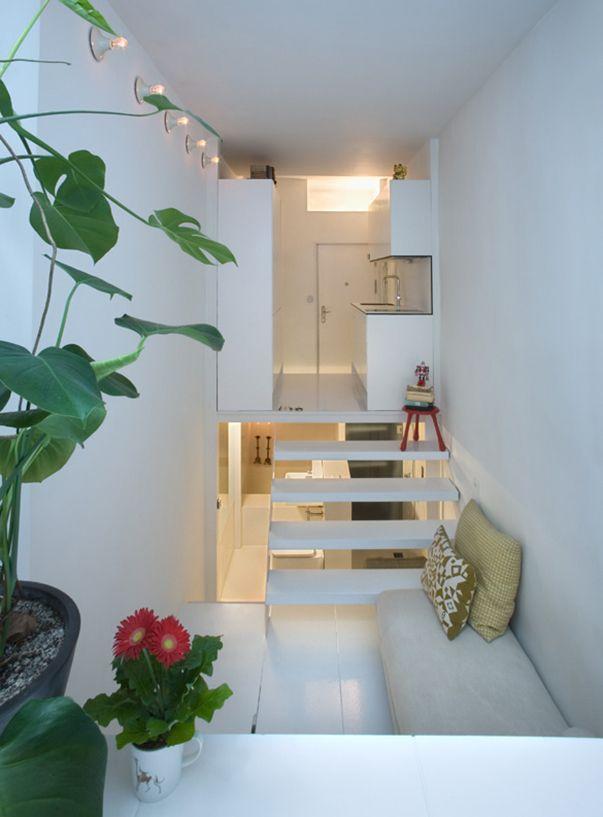 Интересный интерьер квартиры. Фото квартиры 21 кв м в Мадриде.
