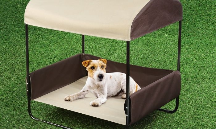 Image Result For Dog Bed With Shade Outdoor Pet Bed Outdoor Dog