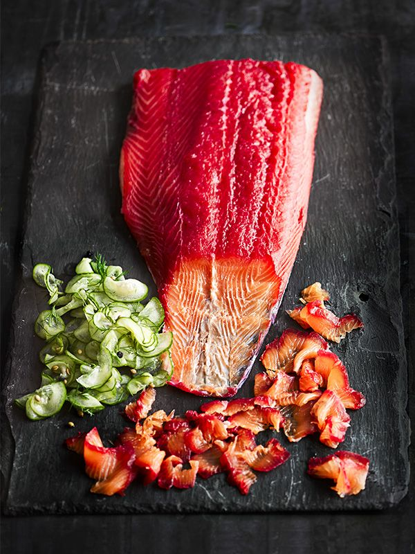 Try our on-trend zesty and boozy gravadlax, perfect for lunches, canapés or as a showstopping centrepiece. Wear gloves when you're grating the beetroot to avoid getting stained hands.