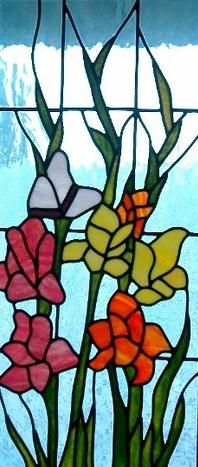 Stained Glass Window Panel