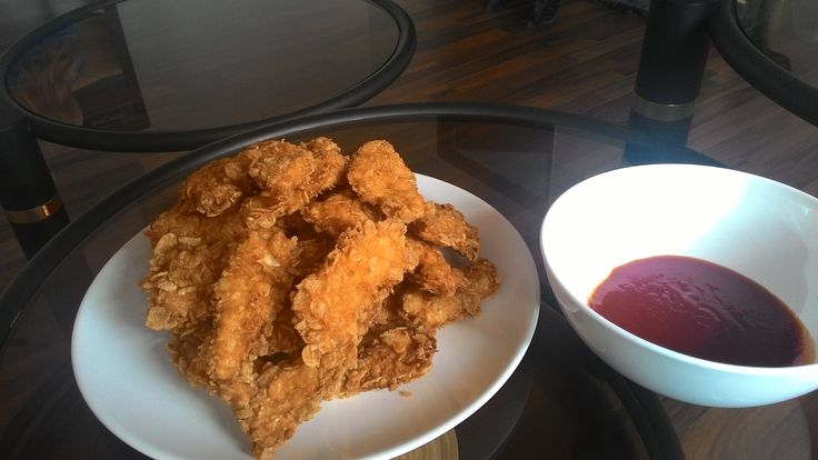 """René me poslal foto chicken strips a piše """"Dnes jsem zase dělal chicken strips podle tvého receptu... Super :) """""""