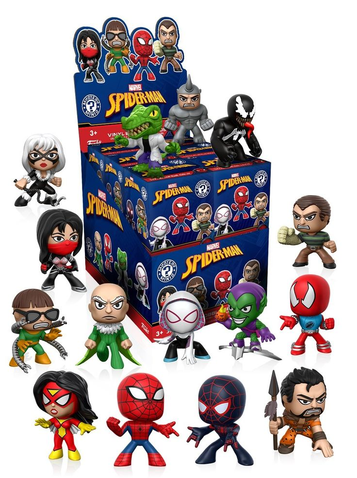 Funko Mystery Mini Spiderman Classic One Mystery Figure Action Figure. Your favorite characters from Spiderman Classic, as stylized vinyl Mystery Minis from Funko!. Stylized collectables stand 3 inches tall, perfect for any Spiderman Classic fan!. Collect and display all Spiderman Classic Mystery Minis!.