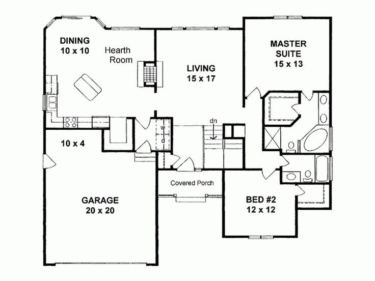 17 best images about 1500 sq ft plans on pinterest ranch for Fireplace floor plan