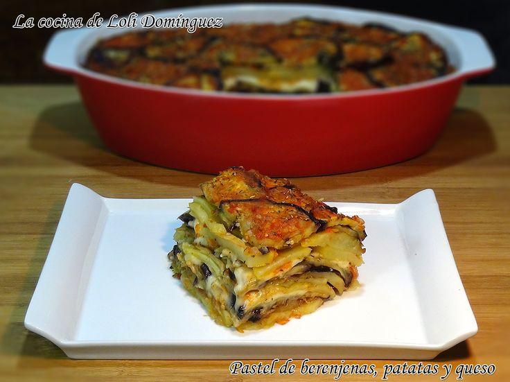 Pastel de berenjena, patata y queso