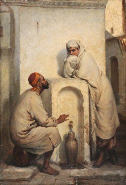 At The Well by Jean Raymond Hippolyte Lazerges