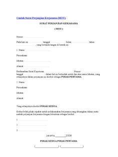 Surat Mou Contoh Sponsorship Surat Perjanjian Contoh Kerjasama Surat