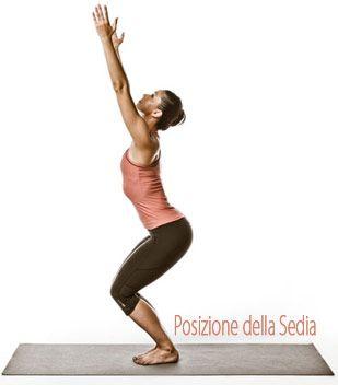 posizione della sedia yogica