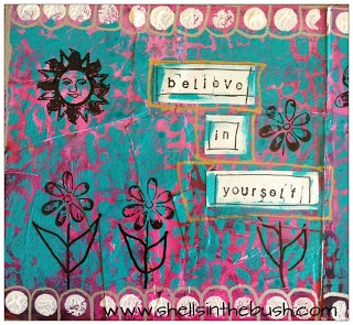 Altered book page by Michelle Reynolds