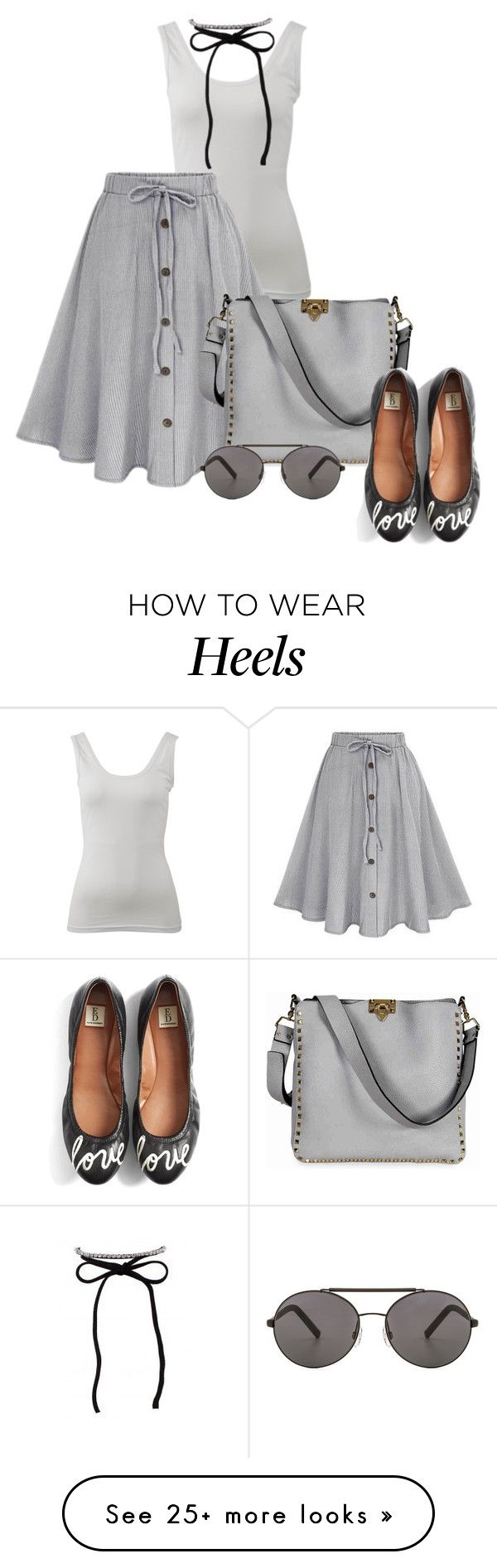 """Head over Heels"" by scandalicious on Polyvore featuring Betty Basics, Valentino, ED Ellen DeGeneres and Seafolly"