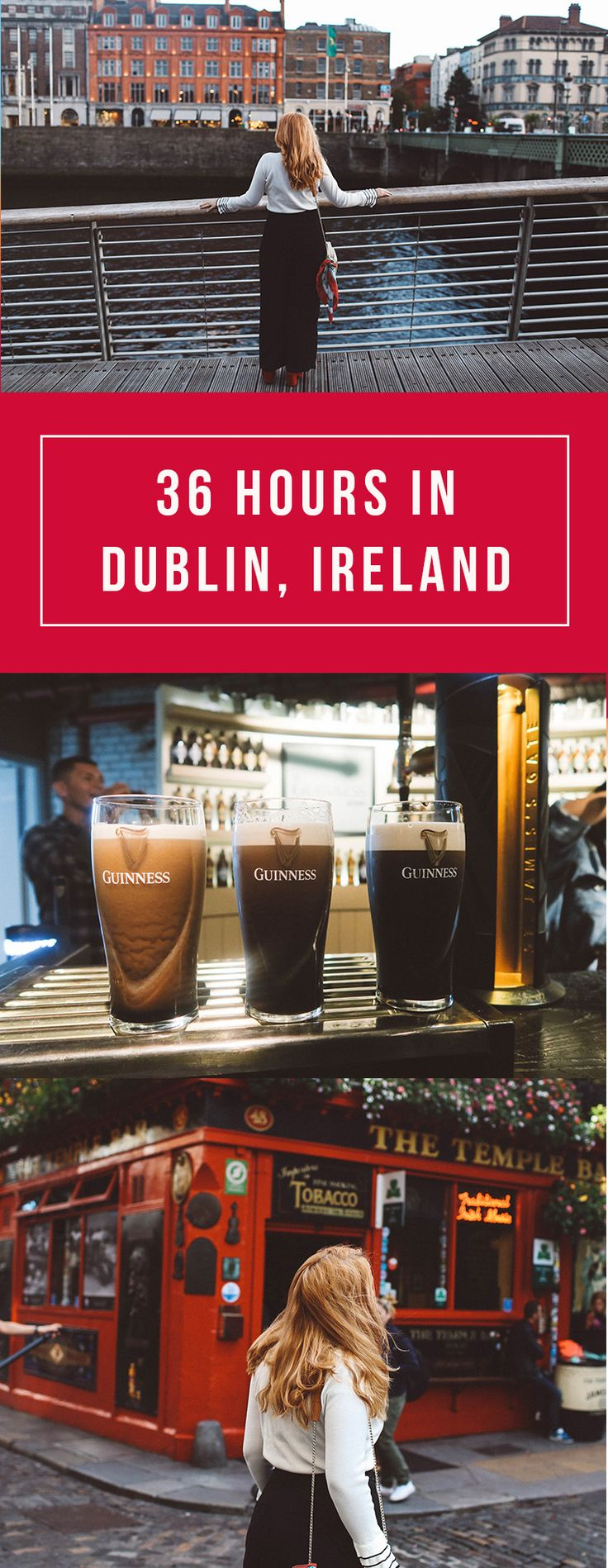 36 Hours in Dublin, Ireland Travel Guide. Everythign to see, eat, where to drink, the best pubs in Dublin travel guide for a weekend trip. Read here: http://whimsysoul.com/36-hours-dublin-travel-guide/