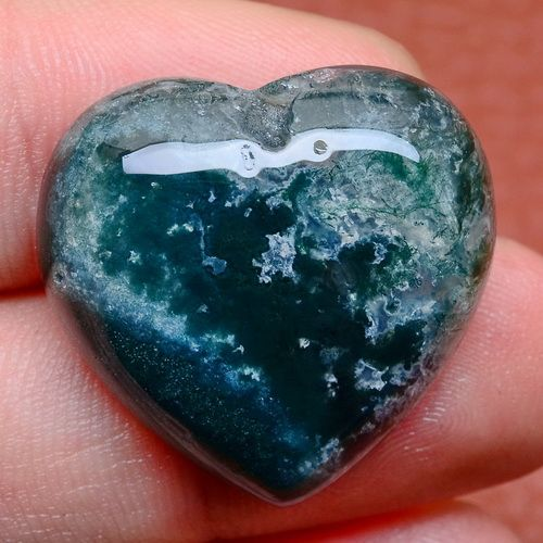 LOVE-HEART-NATURAL-INDIAN-AGATE-GEMSTONE-CABOCHON-CAB-24X23X7MM