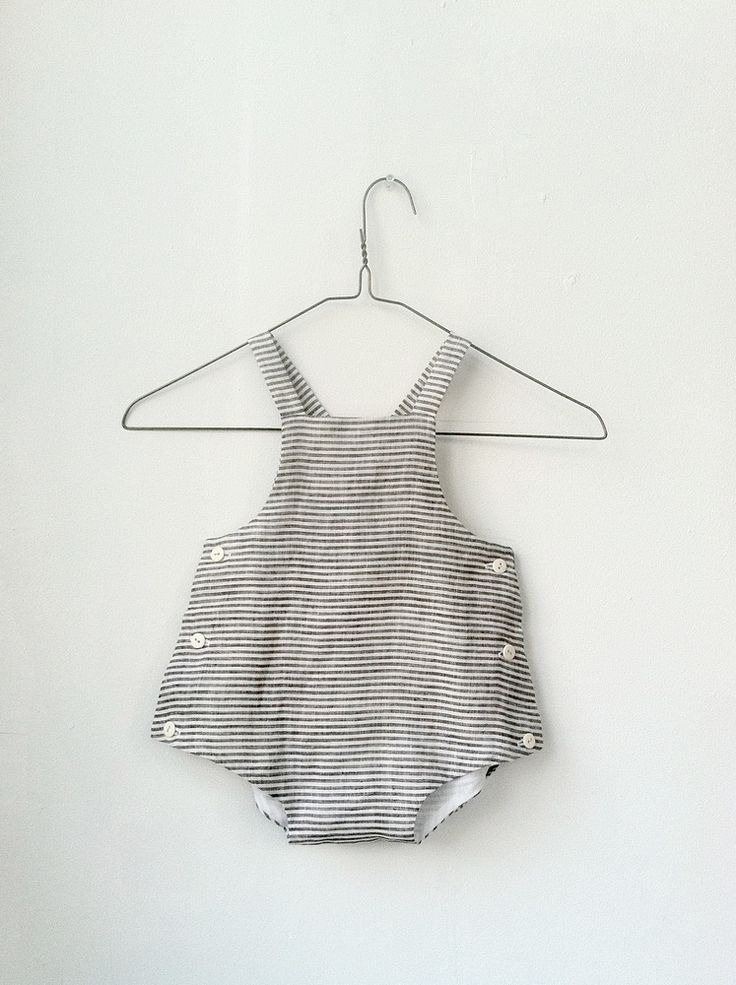 beautiful linen playsuit. If I use cream linen on the front and top half of the back and use ruffle fabric on the bum (bottom half) it would make a great birthday outfit for the girls!