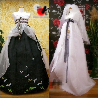 "Possible wedding style hanbok | ""Hanbok [한복]"", the Korean dress (modern style)"
