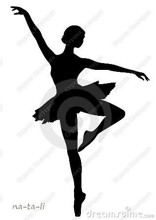 Silhouettes for the paper snowflake ballerinas.  The silhouette would also be a cute car magnet in honor of my little dancer.